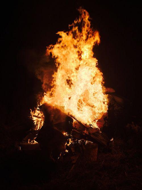fire bonfire blaze