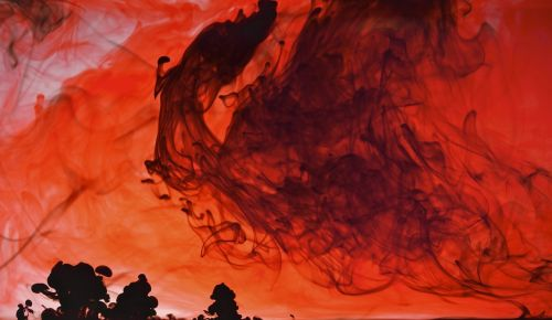 fire volcano red storm