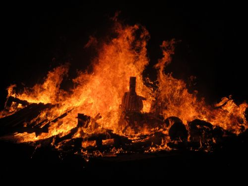 fire bonfire spain