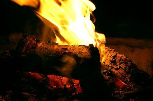 fire bonfire wood