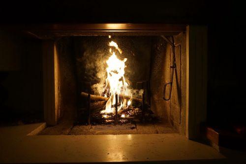 fire fireplace light