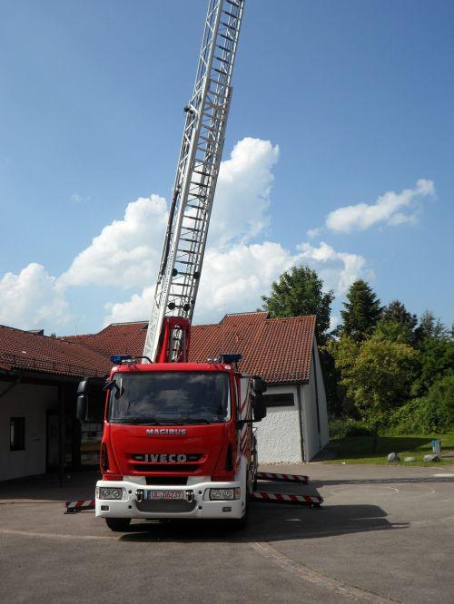 fire fire truck turntable ladder