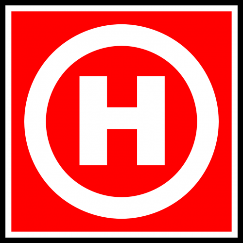fire hydrant road sign