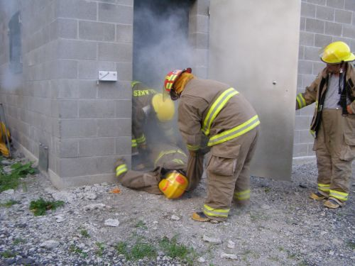 fire firefighter training smokehouse training
