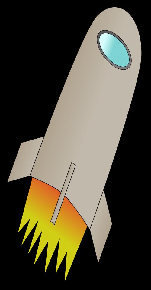 fire rocket space