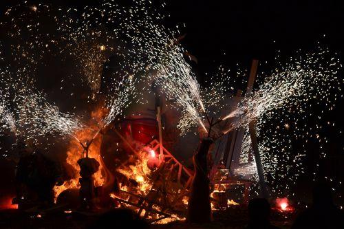 fire night pyrotechnics