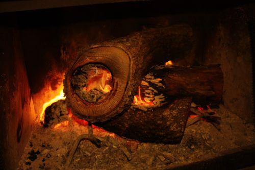 fire hearth log