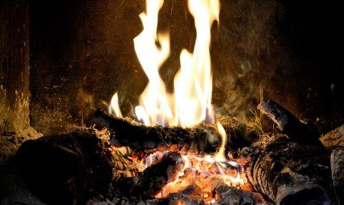 fire fireplace bonfire
