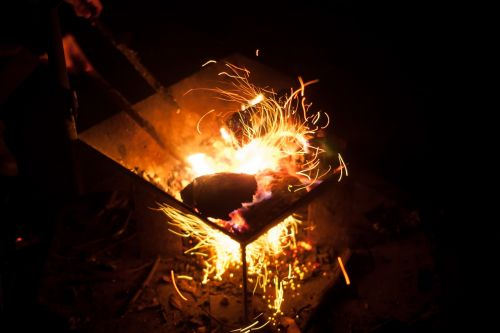 fire spark camping