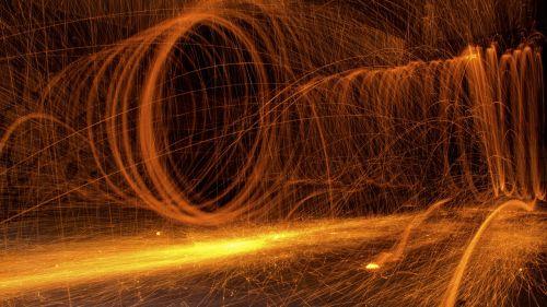 fire sparks golden fire