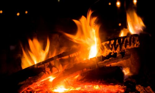 fire flame fireplace