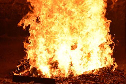 fire flame sweating bathroom
