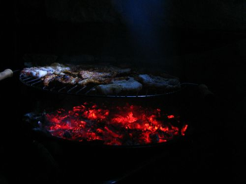 fire wood barbecue