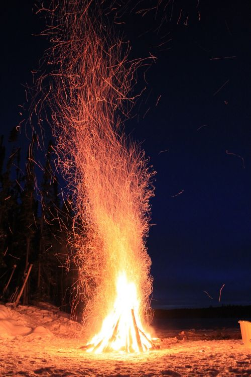 fire winter warmth
