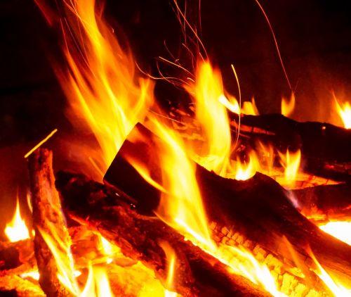 fire burn campfire