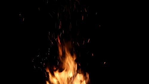 fire sparks burning