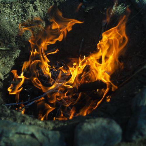 fire flames campfire