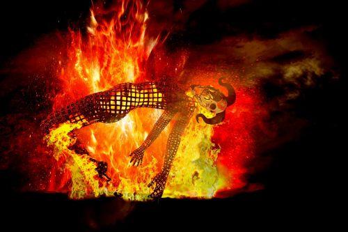 fire burn hell