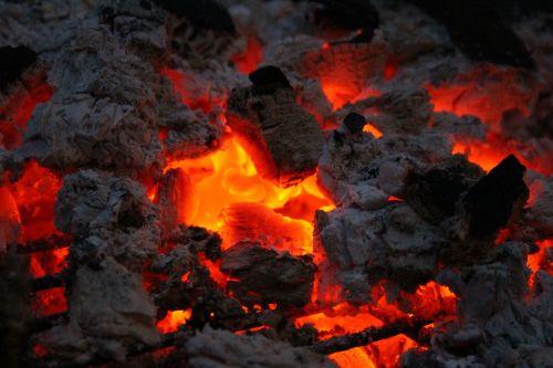 fire embers wood