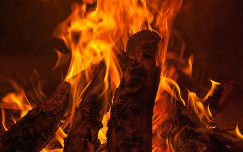 fire fireplace wood