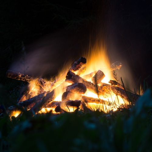 fire campfire flame
