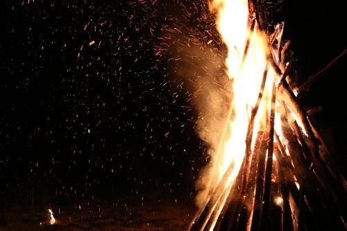 fire open fire hot