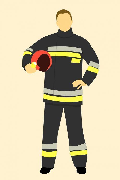 fire fireman hand