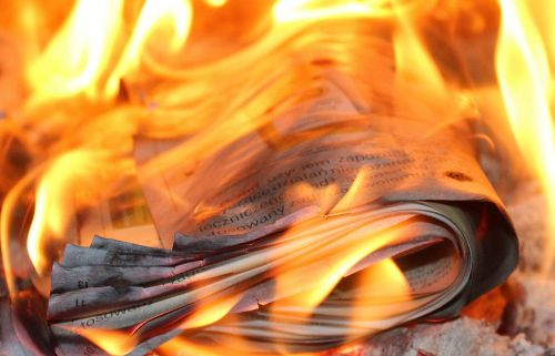 fire flames paper