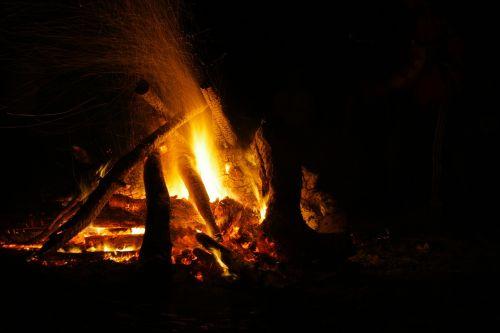 fire outside outdoor