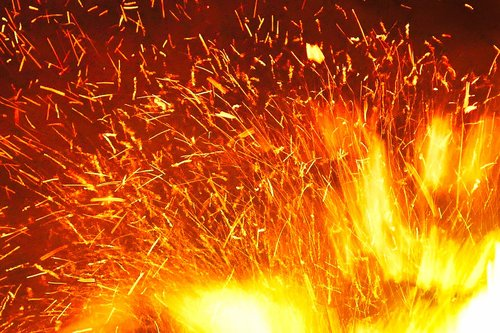 fire  dunk  sparks