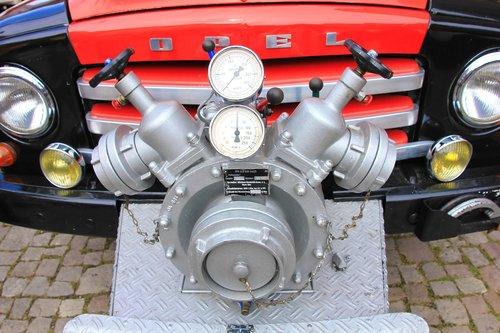 fire  pump  red