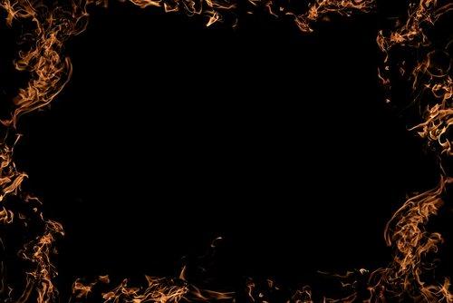 fire  frame  background