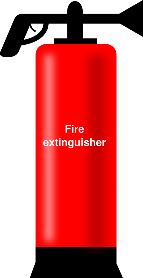 fire extinguisher red