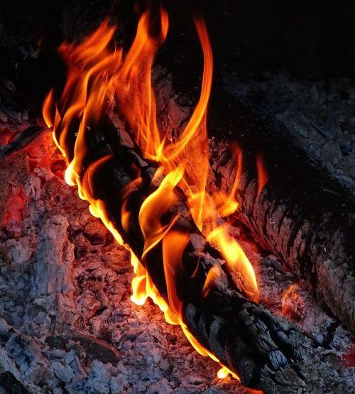 fire heat wood