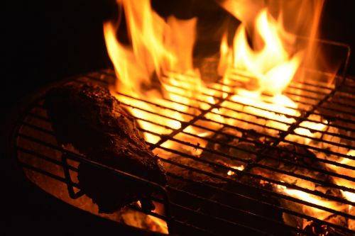 fire flames barbeque