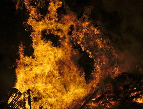 fire flames hot