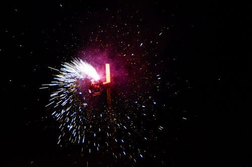 fire fireworks sun