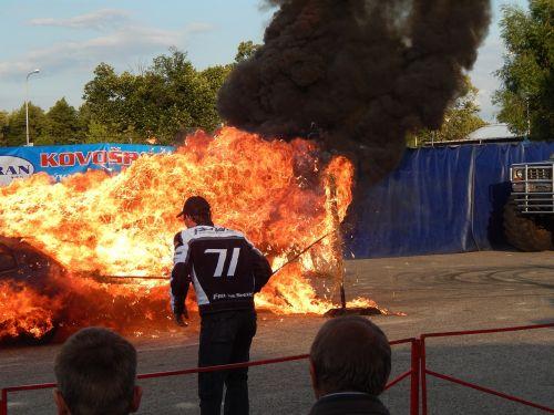 fire cars races