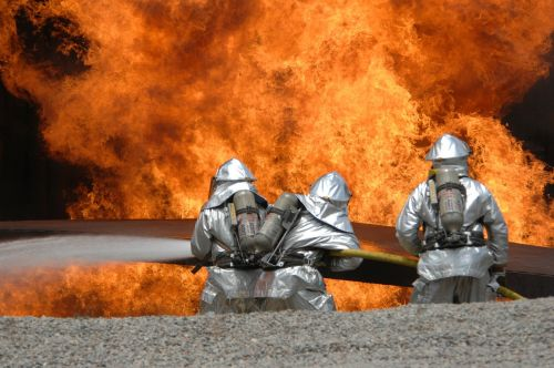 fire delete exercise fire fighting