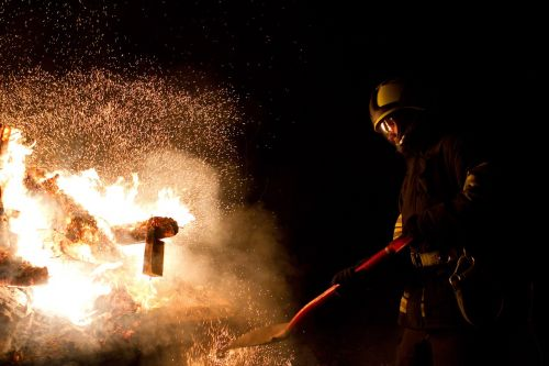 fire firefighter sparks