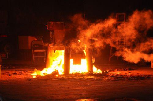 fire molten metal