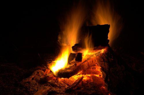 fire campfire wood