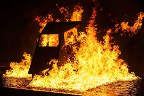 fire flames night