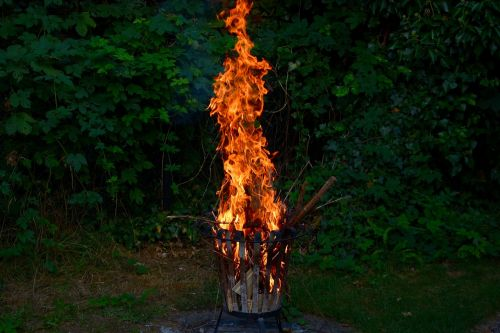 fire flame campfire