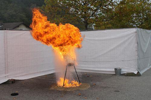 fire oil water