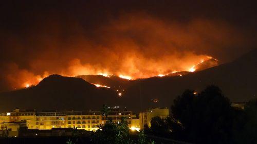 fire pego mountain