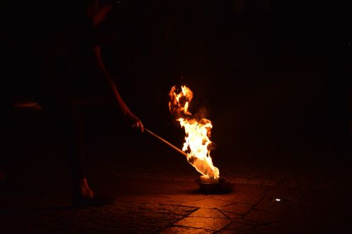 fire fireshow burn