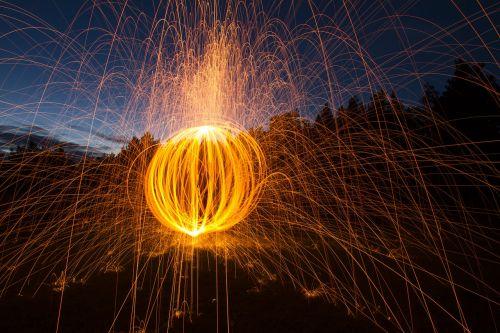 fire ball sphere fire