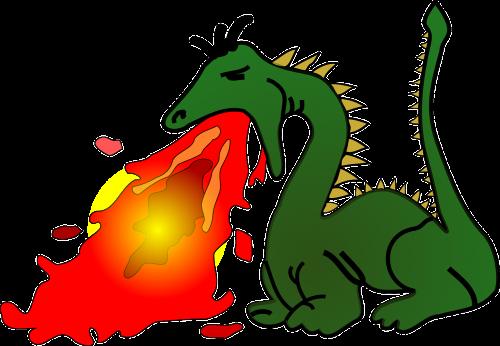 fire-breathing dragon myth
