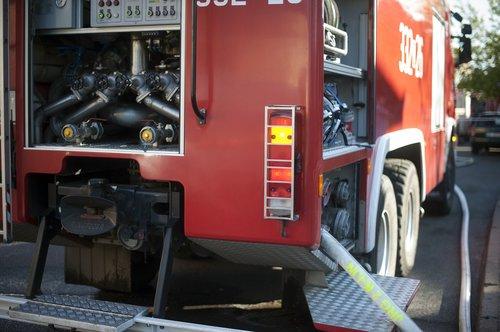 fire brigade  fire hose  fire truck